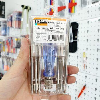 Bút thử điện 6 mũi vít TRUSCO - MADE IN JAPAN