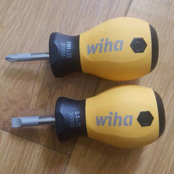Tô vít dẹt thân ngắn chống tĩnh điện Wiha - 32152