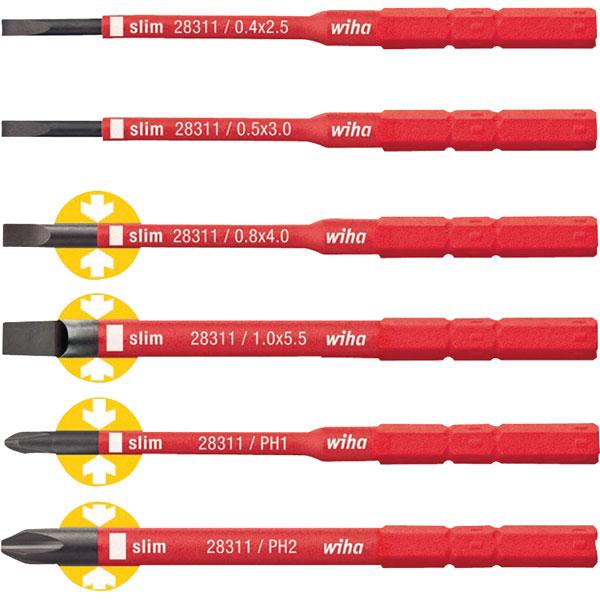 2831 B601- Bộ đầu vít cách điện 1000V Wiha - 36088