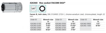 Đầu khẩu, khẩu tuýp, khẩu vặn hệ inch FACOM -  426360
