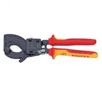 9536 - Kìm cắt cáp bánh cóc cách điện 1000 V KNIPEX - 442355