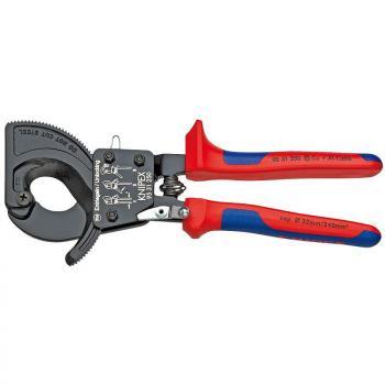 Kìm cắt cáp bánh cóc Knipex- 9531280 (Cable cutter ratchet type)